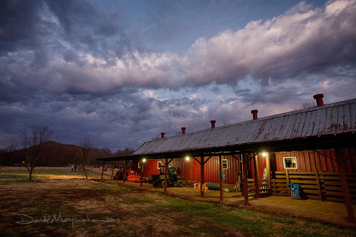 Pre-dawn Farm