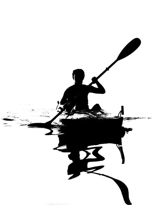 Oil Blot Kayaker