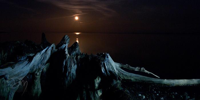 Moon Over Craggy Peaks