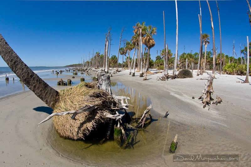Receding Beach
