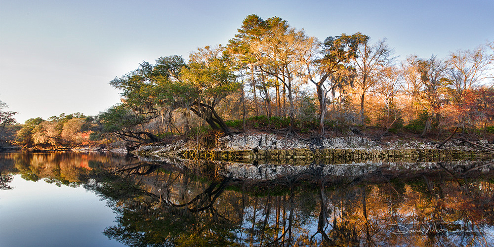 Reflections on the Suwannee Panorama
